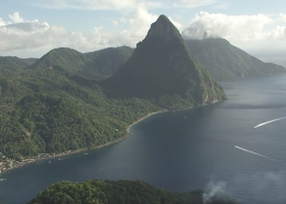 St Lucia Mountain and Ocean View